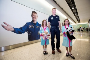 Peake welcomed back to London Heathrow