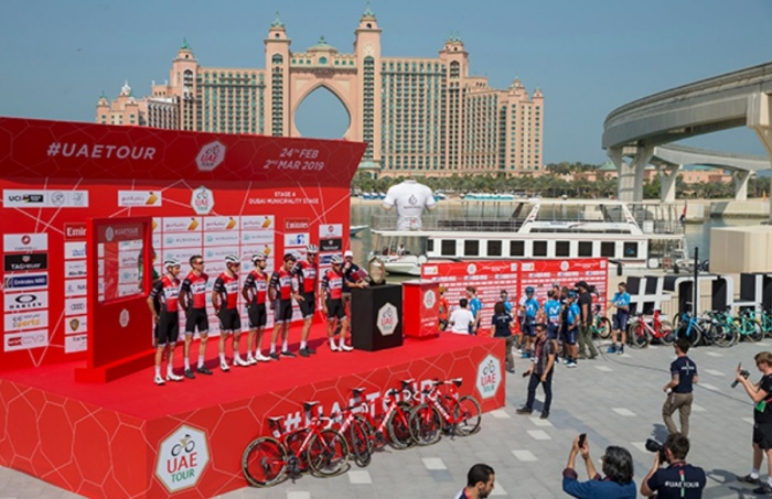 UAE Tour visits famous Palm Jumeirah for stage four