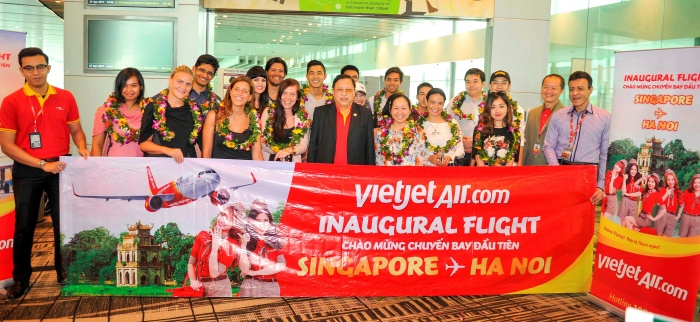 Vietjet launches new Singapore–Hanoi route