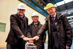 Dream Cruises celebrates steel cutting ahead of World Dream launch