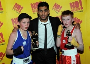 Amir Khan helps Network Rail celebrate big hit to railway crime