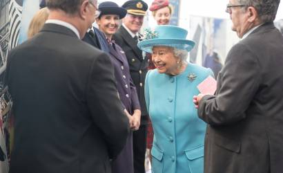 British Airways welcomes her majesty the Queen to celebrate centenary