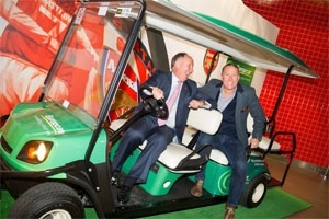 Arsenal FC legend helps launch new Europcar service at WTM 2014