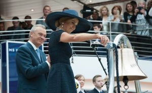 Queen Máxima celebrates launch of ms Koningsdam
