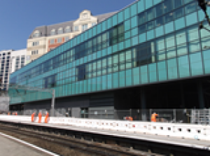 Network Rails new train crew centre lights up new street