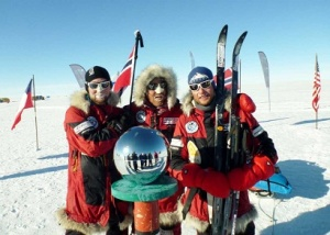 Norwegians win EWR Centenary race to the South Pole