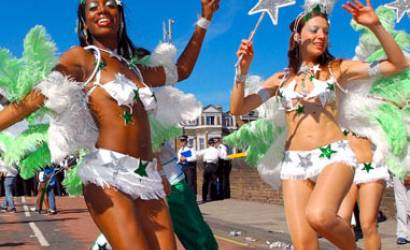 Visitors descend upon London for Notting Hill Carnival