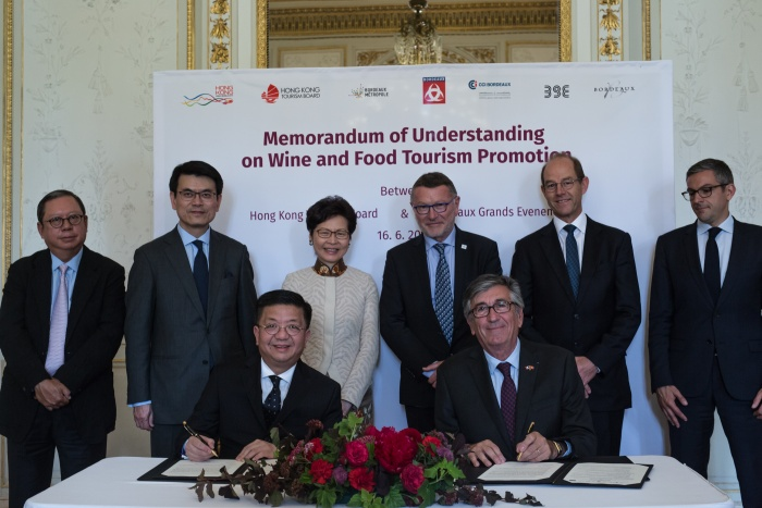 Hong Kong Tourism Board signs culinary partnership with Bordeaux