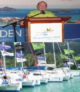 Seychelles Tourism CEO Alain St.Ange officially launches 2011 Regatta
