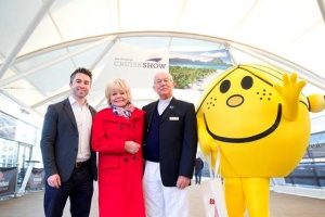Judith Chalmers opens the Telegraph Cruise Show