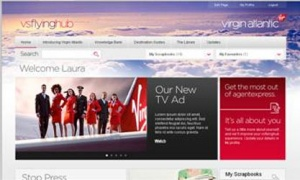 New travel agent website for Virgin Atlantic
