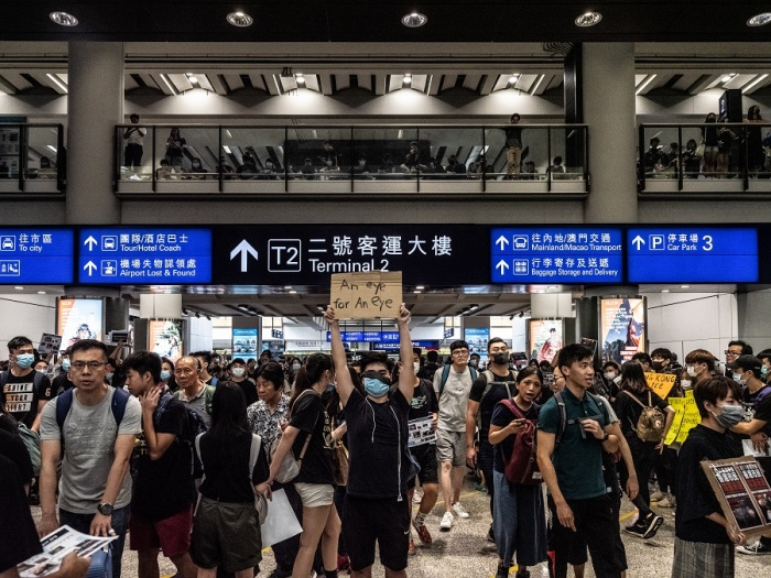 Hong Kong International cancels all Monday evening flights