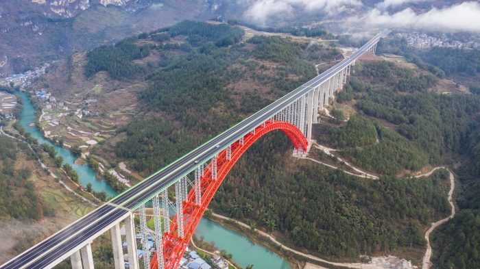 China welcomes latest mega bridge in Guizhou