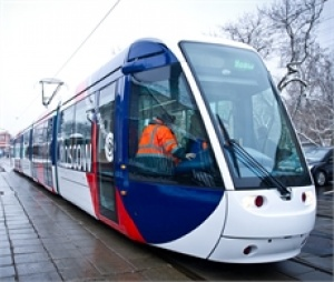 Alstom and Transmashholding present their new tramway to Moscow Mayor
