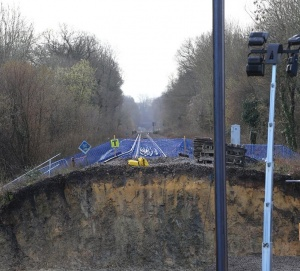 Network Rail: Work progressing well at 80m Botley landslip