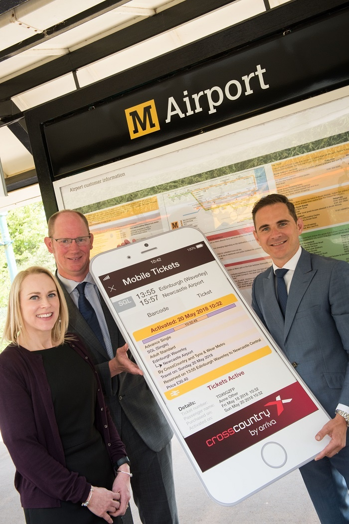 CrossCountry offers new m-tickets to Newcastle International Airport