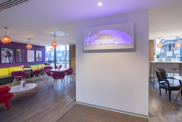 Office Twelve design new Virgin lounge at Liverpool Lime Street