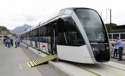 Rio welcomes first Light Rail trains ahead of 2016 Olympic Games