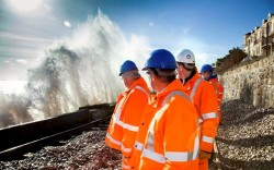 Network Rail reopens Dawlish railway to south-west England