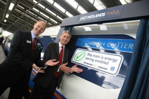 "Transport Secretary unveils ""the carbon cutter"" for East Midlands Trains"