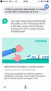 Trainline launches new voice app for Google Assistant