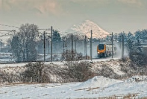 Arriva announces Stephen's snowy railway scene is picture perfect