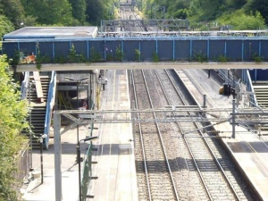 Work begins on replacing footbridge and improving platforms at Hartford station