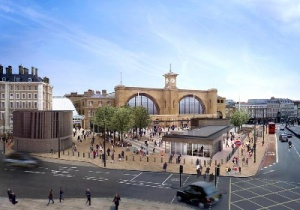Mayor of London marks 50-day King's Cross Square opening