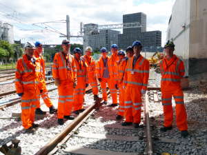 Apprentices start work on Thameslink rail