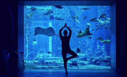 New underwater yoga class at Atlantis, the Palm