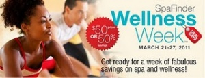 SpaFinder's Nationwide Wellness Week™ set for March 21-27, 2011