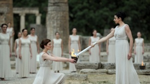 London 2012 Olympic Flame is lit in Greece
