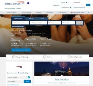 News: British Airways unveils updated website