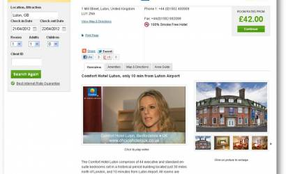 Choice Hotels Europe adds video content online