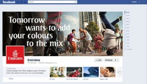 Emirates launches Facebook page