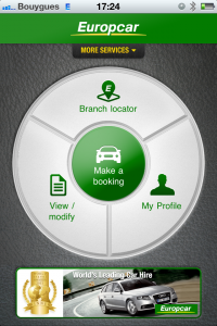 New mobile application for Europcar