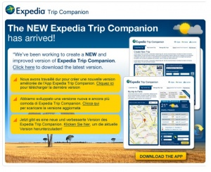 New focus for Expedia Trip Companion app