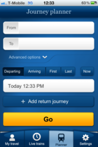 Fortune Cookie designs National Rail Enquiries mobile app