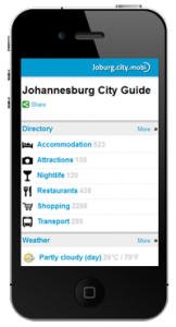 Joburg.City.Mobi proves a big hit with travellers