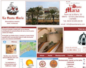 La Santa María Hotel introduced Web 2.0 technologies to website