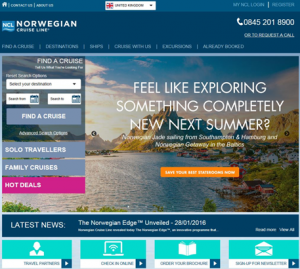 New European website from Norwegian Cruise Line