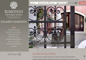 Palazzo Rimondi Hotel launches new website
