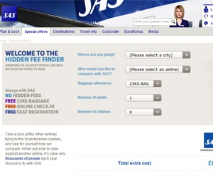 "SAS champions booking transparency with the launch of the hidden ""Fee-Finder"""