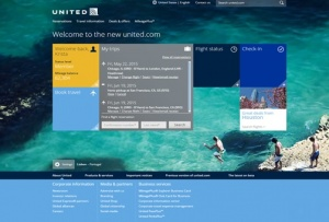 United Airlines trials new united.com website