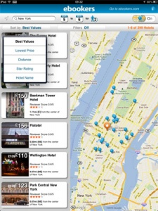ebookers.com announces iPad hotel app