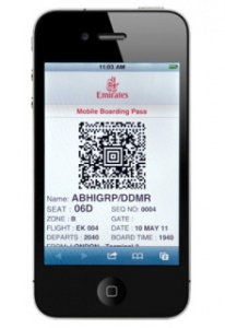Emirates launches mobile boarding pass service