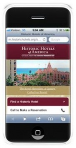 Historic Hotels of America® launches mobile website