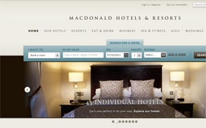 Macdonald Hotels launches new website to click with consumers