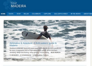 The new interactive blog from the Madeira Islands goes live