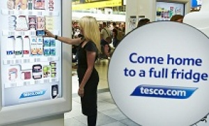 Tesco launches its first interactive virtual grocery store at Gatwick